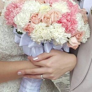 Beautiful Pastel Wedding Bouquet Colored Roses