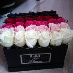 Black, Red, Pink, Pastel Pink, White Roses LJJ Flowers Delivery