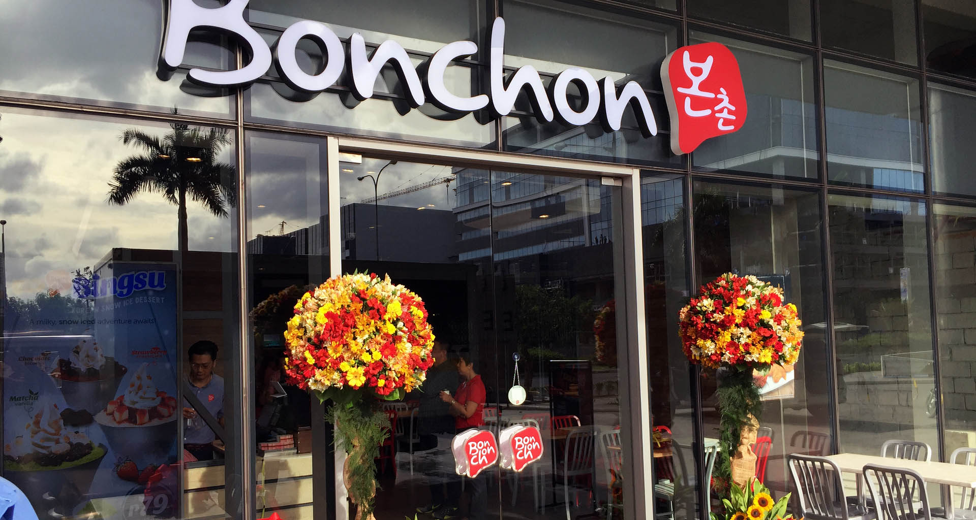 Flower Setup for Bonchon Opening